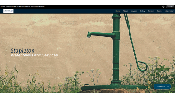 Stapleton Water Website screenshot